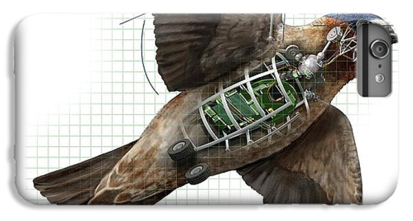 Swallow iPhone 6s Plus Case - Swallow Drone Robotics by Nicolle R. Fuller