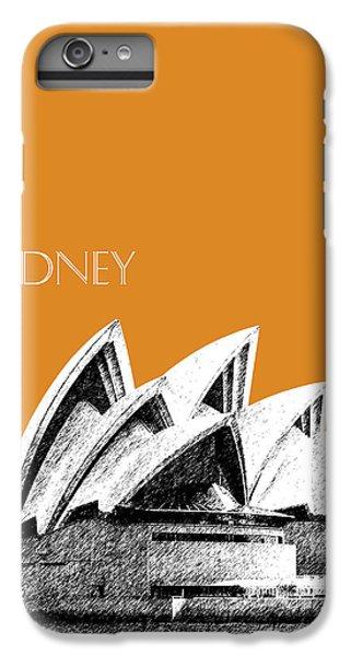 Sydney Skyline 3  Opera House - Dark Orange IPhone 6s Plus Case