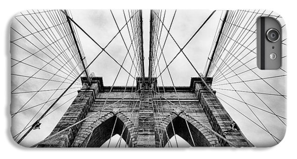 White iPhone 6s Plus Case - The Brooklyn Bridge by John Farnan