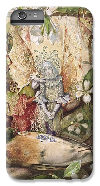 Flower Fairy iPhone 6s Plus Case - The Death Of Cock Robin by John Anster Fitzgerald