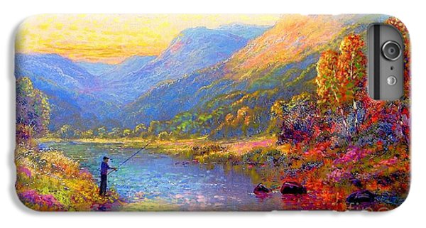 Salmon iPhone 6s Plus Case - Fishing And Dreaming by Jane Small