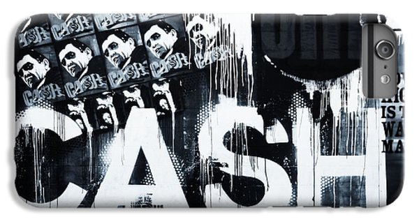 Johnny Cash iPhone 6s Plus Case - The Man In Black by Dan Sproul