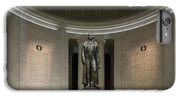 IPhone 6s Plus Case featuring the photograph Thomas Jefferson Memorial At Night by Sebastian Musial