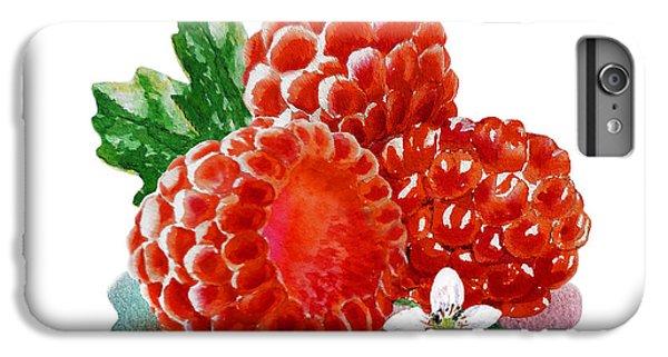 Three Happy Raspberries IPhone 6s Plus Case