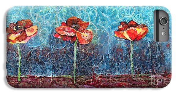 Lime iPhone 6s Plus Case - Three Poppies by Shadia Derbyshire