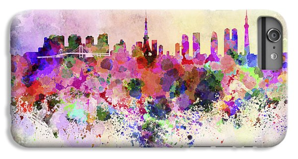 Tokyo Skyline In Watercolor Background IPhone 6s Plus Case