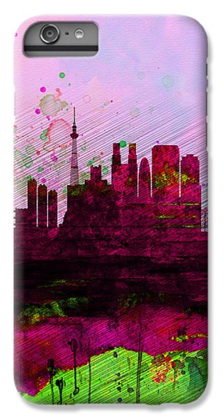 Tokyo Watercolor Skyline IPhone 6s Plus Case