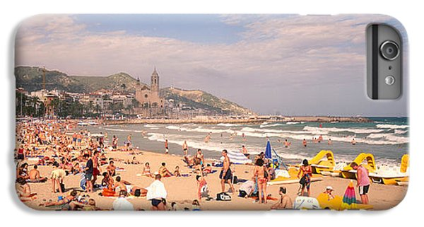 Tourists On The Beach, Sitges, Spain IPhone 6s Plus Case by Panoramic Images