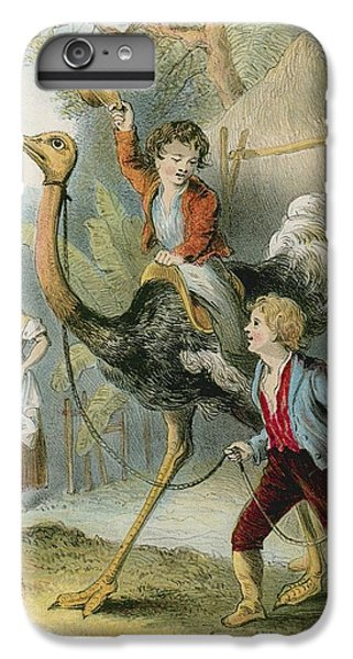 Ostrich iPhone 6s Plus Case - Training The Ostrich by English School