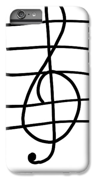 Treble Clef IPhone 6s Plus Case by Jada Johnson