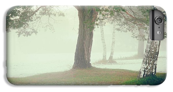 IPhone 6s Plus Case featuring the photograph Trees In Fog by Silvia Ganora