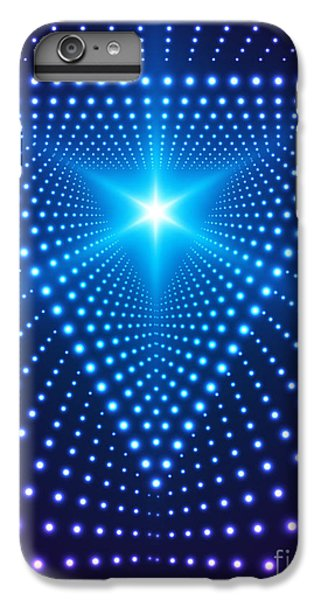 Space iPhone 6s Plus Case - Triangle Border With Light Effects by Skillup