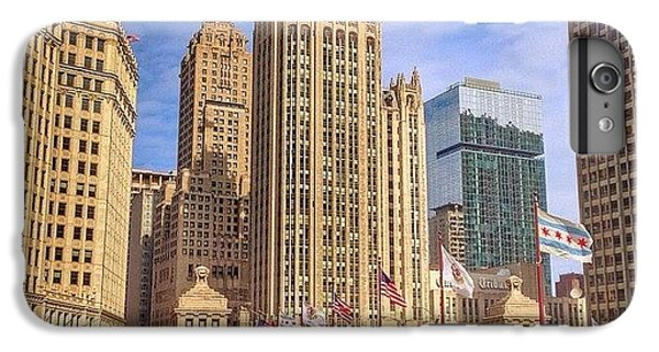 Place iPhone 6s Plus Case - Tribune Tower And Dusable Bridge In by Paul Velgos