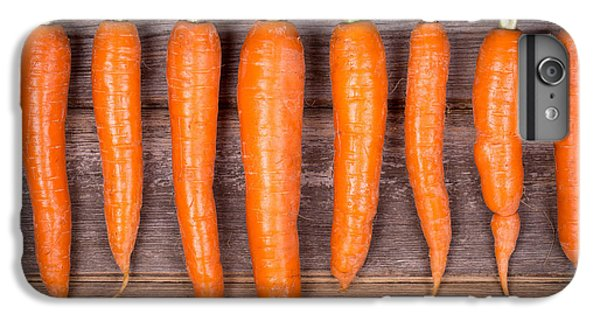 Trimmed Carrots In A Row IPhone 6s Plus Case by Jane Rix