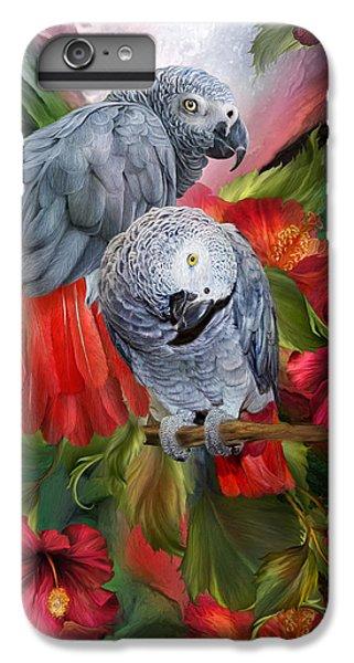 Parrot iPhone 6s Plus Case - Tropic Spirits - African Greys by Carol Cavalaris