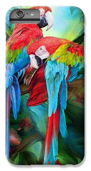 Scarlet iPhone 6s Plus Case - Tropic Spirits - Macaws by Carol Cavalaris
