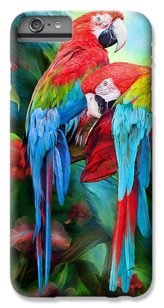 Tropic Spirits - Macaws IPhone 6s Plus Case by Carol Cavalaris