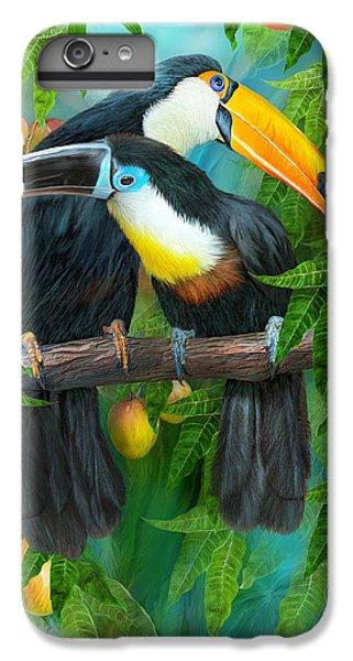 Tropic Spirits - Toucans IPhone 6s Plus Case by Carol Cavalaris