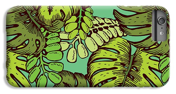 Orchid iPhone 6s Plus Case - Tropical Leaves Pattern by Tom And Kwikki