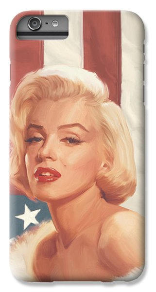True Blue Marilyn In Flag IPhone 6s Plus Case by Chris Consani