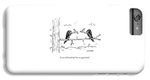 Two Buzzards Sit And Talk On A Branch IPhone 6s Plus Case by David Sipress