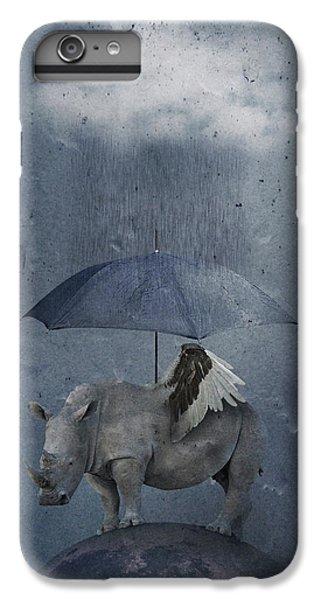 Umbrella iPhone 6s Plus Case - Under The Rain by Muriel Vekemans