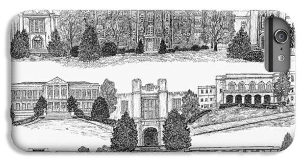 University Of Arkansas iPhone 6s Plus Case - University Of Arkansas Fayetteville by Jessica Bryant