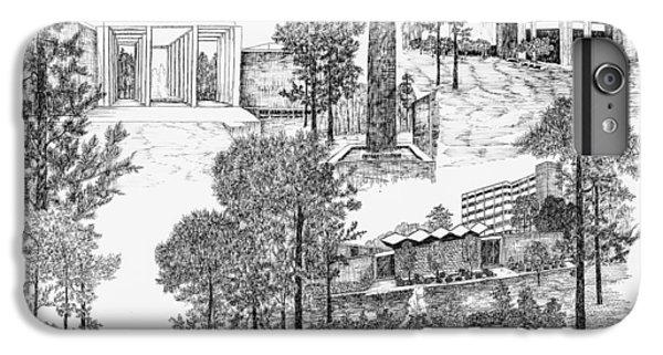 University Of Arkansas iPhone 6s Plus Case - University Of Arkansas Little Rock by Jessica Bryant