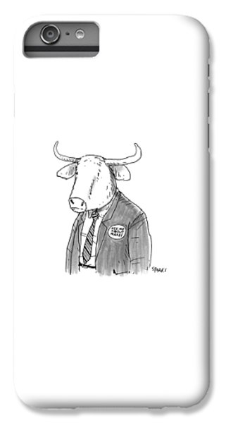 Minotaur iPhone 6s Plus Case - New Yorker October 24th, 2016 by Rich Sparks