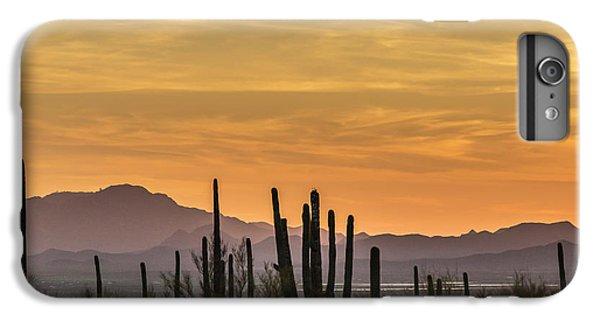Desert Sunset iPhone 6s Plus Case - Usa, Arizona, Tucson Mountain Park by Jaynes Gallery