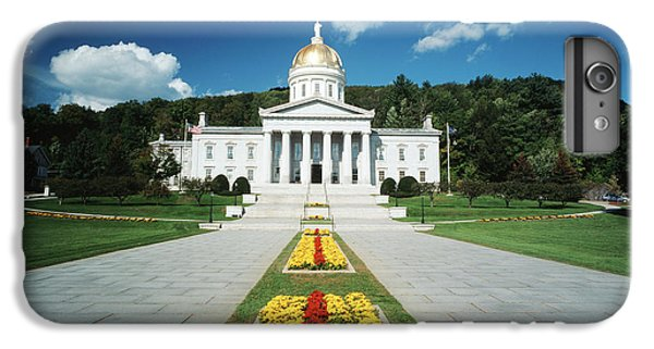 Capitol Building iPhone 6s Plus Case - Usa, Vermont, Montpelier, Vermont State by Walter Bibikow