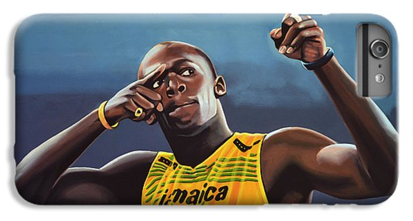 Star iPhone 6s Plus Case - Usain Bolt Painting by Paul Meijering