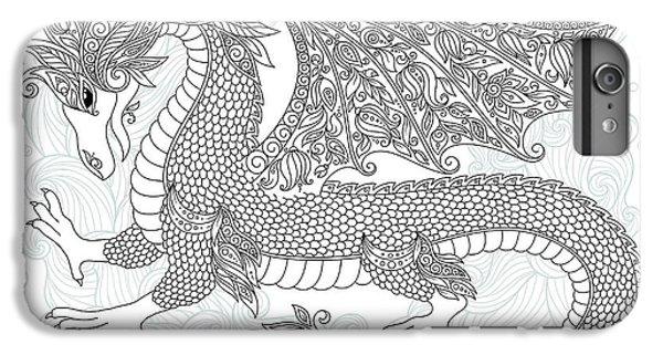 Dragon iPhone 6s Plus Case - Vector Cartoon Dragon. Hand Drawn by Photo-nuke