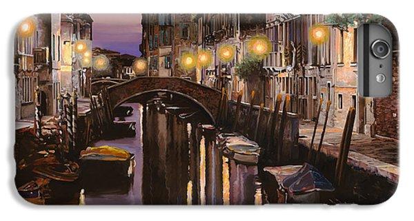Boat iPhone 6s Plus Case - Venezia Al Crepuscolo by Guido Borelli