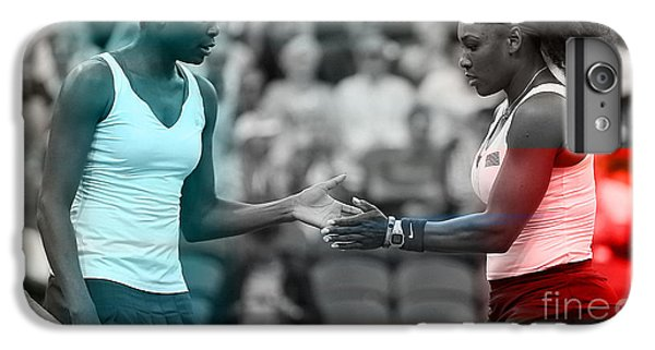 Serena Williams iPhone 6s Plus Case - Venus Williams And Serena Williams by Marvin Blaine