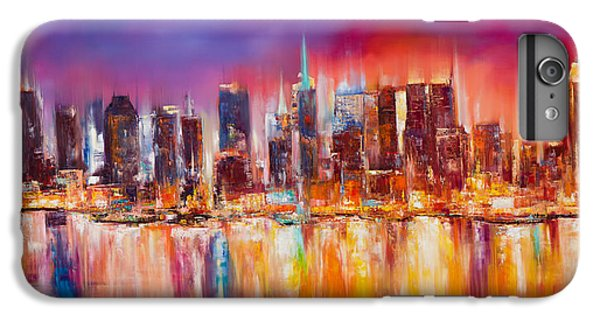 Empire State Building iPhone 6s Plus Case - Vibrant New York City Skyline by Manit