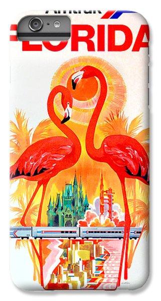 Flamingo iPhone 6s Plus Case - Vintage Florida Amtrak Travel Poster by Jon Neidert