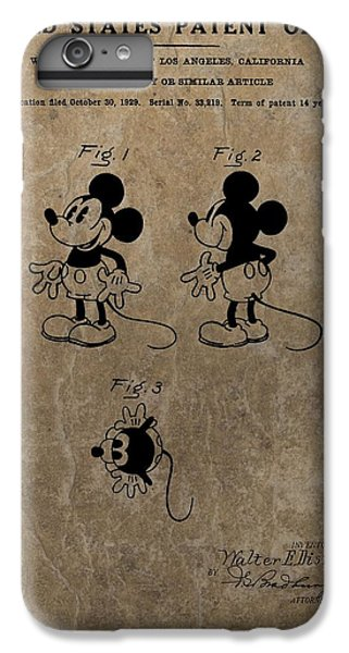 Vintage Mickey Mouse Patent IPhone 6s Plus Case