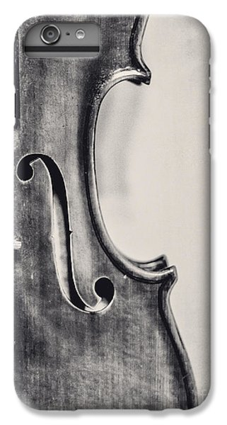 Violin iPhone 6s Plus Case - Vintage Violin Portrait In Black And White by Emily Kay