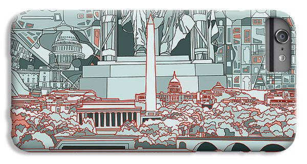 Washington Dc Skyline Abstract IPhone 6s Plus Case