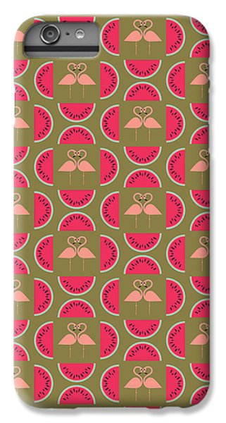 Watermelon Flamingo Print IPhone 6s Plus Case by Susan Claire