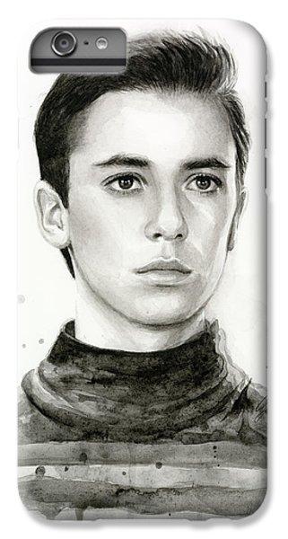 Star iPhone 6s Plus Case - Wesley Crusher Star Trek Fan Art by Olga Shvartsur