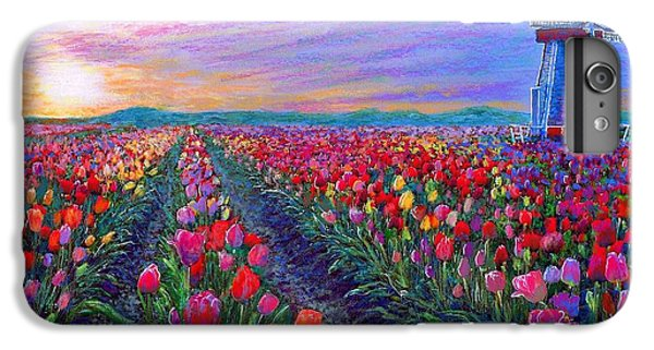 Impressionism iPhone 6s Plus Case -  Tulip Fields, What Dreams May Come by Jane Small