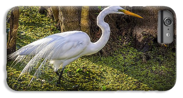 Egret iPhone 6s Plus Case - White Egret On The Hunt by Marvin Spates