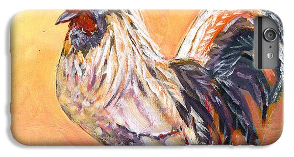 Chicken iPhone 6s Plus Case - White Rooster by Jennifer Lommers