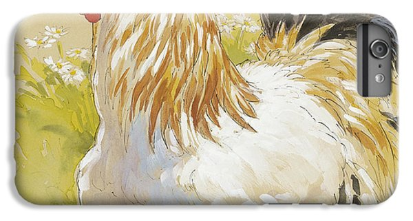 Rooster iPhone 6s Plus Case - White Rooster by Tracie Thompson