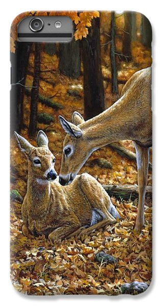 Deer iPhone 6s Plus Case - Whitetail Deer - Autumn Innocence 2 by Crista Forest