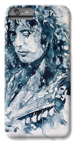 Jimmy Page iPhone 6s Plus Case - Whole Lotta Love Jimmy Page by Paul Lovering