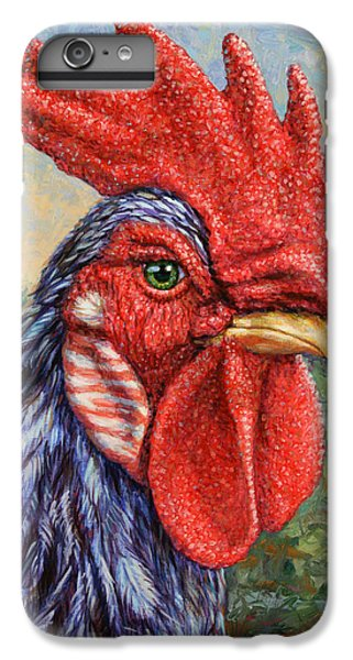 Chicken iPhone 6s Plus Case - Wild Blue Rooster by James W Johnson