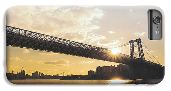 City Sunset iPhone 6s Plus Case - Williamsburg Bridge - Sunset - New York City by Vivienne Gucwa